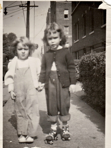 Barby Hans and Barb on roller skates abt 1949