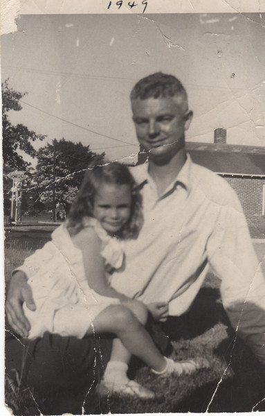 Barb and Daddy in Avon avt 1952
