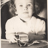 Barbara in high chair Feb 1945