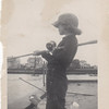 Barbara fishing in Shark River Inlet Avon 1950