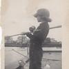 Barbara fishing in Shark River Inlet Avon 1950