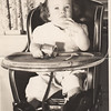 Cousin Pat's Highchair Barbara Anne February 1945 1 Year