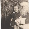 Barbara with Santa Claus abt age 3