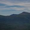 Zoom of Pamola and Chimney Peak beyond The Saddle- Baxter Peak (R)...