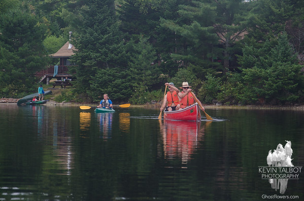 Yep=Paddling with Loons on Kidney Pond...