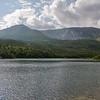 Back down at Basin Ponds… Hamlin and Hamlin Ridge left center...