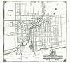 Map and Street Guide of Belleville. Published by the Belleville Chamber of Commerce. Undated, likely about 1950. Pen line pointing to corner of Queen and William Streets.