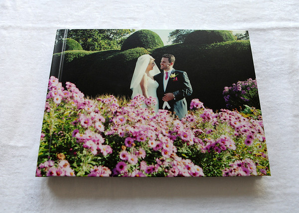 This is our new sample book - it has an Imagewrap cover which wraps right the way round the book