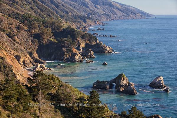 Big Sur Rocky Coastline Looking South