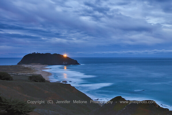 Point Sur Light Reflection before Dawn