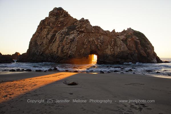 Beam of Light through Keyhole Arch