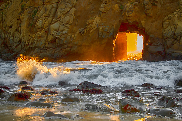 Light through the Arch with Splash - Dedicated to John A. Mellone (Dad)
