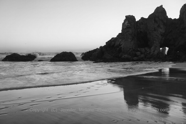 Footprints and Reflections at Pfeiffer Beach