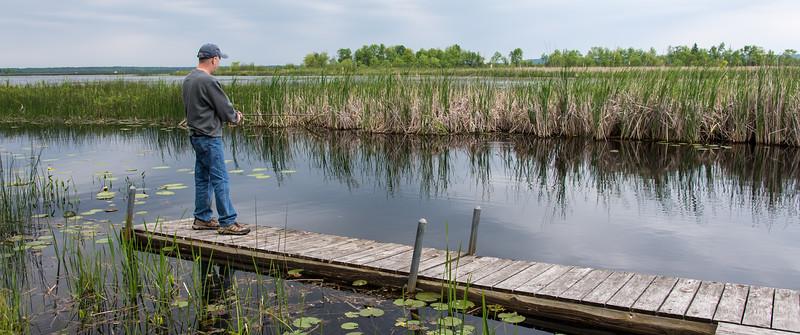 Casting from dock, Black Lake, MI - June 2015