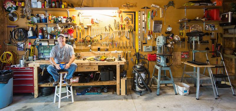 Finally got the garage organized!  Black Lake, MI - August 2015