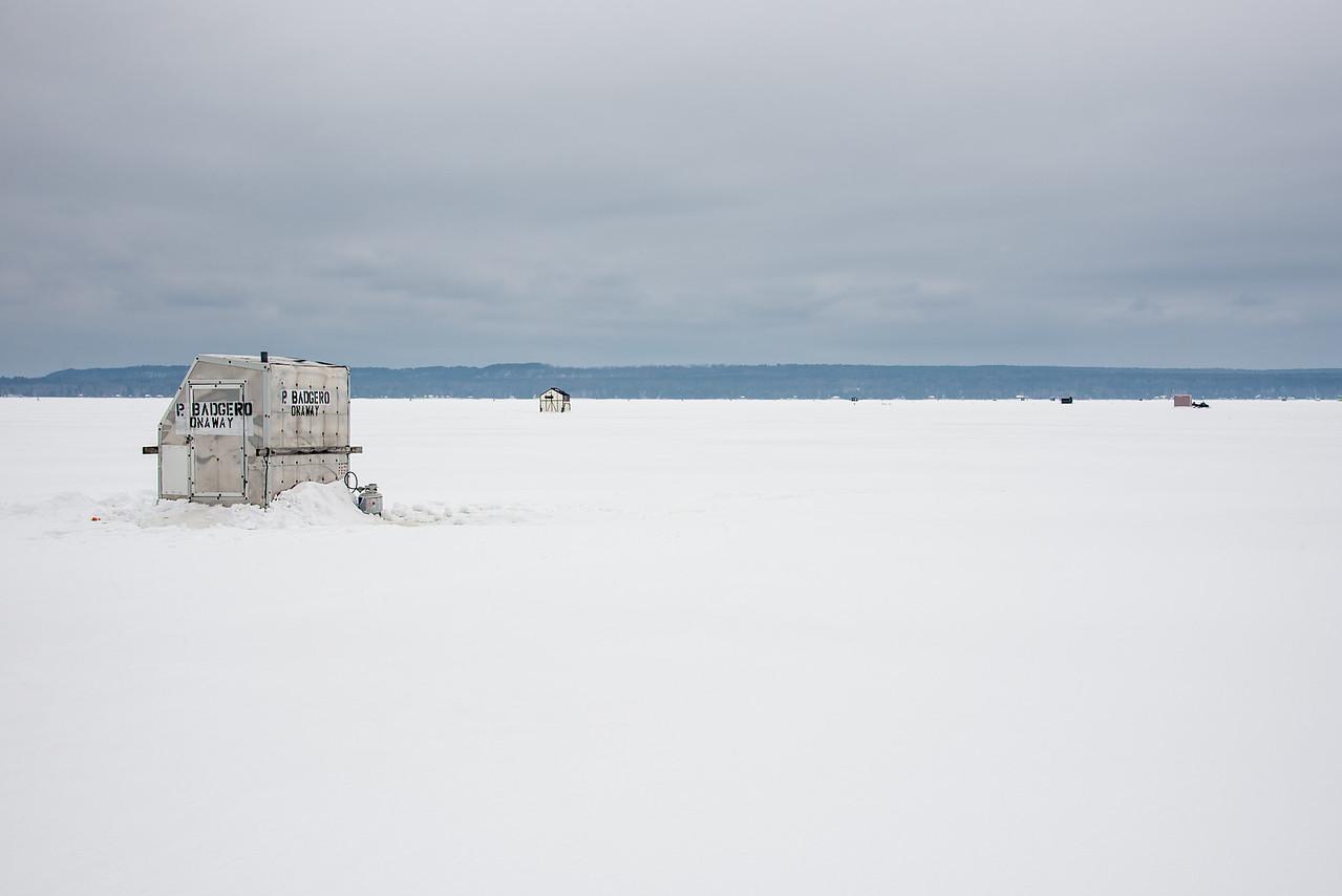 Ice Shanty on  Black Lake - February 16, 2016