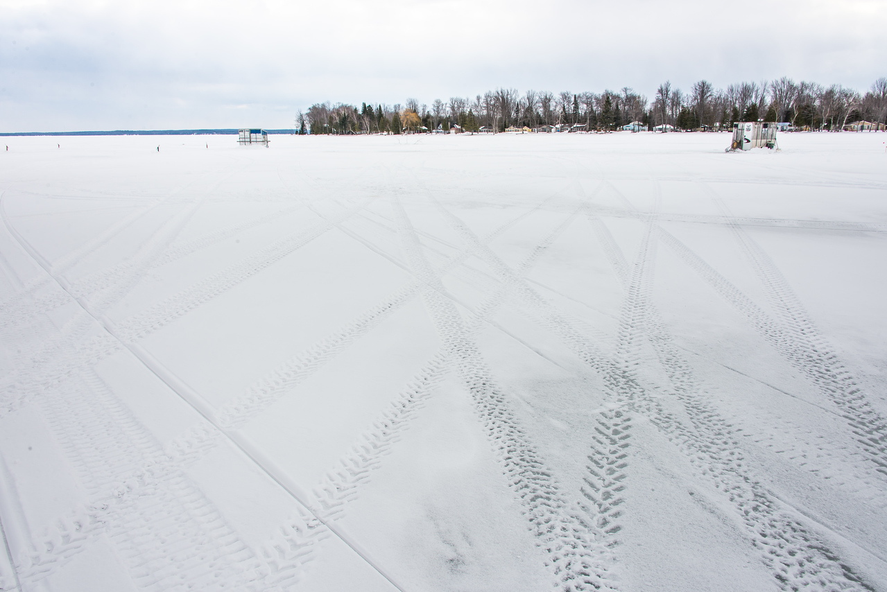 Out on the ice on Black Lake, Michigan -  March 4, 2016