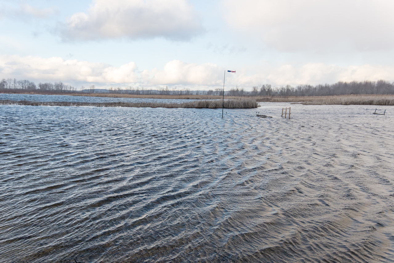 Dock is totally submerged.  Must use waders to stand on it!  April 2, 2016