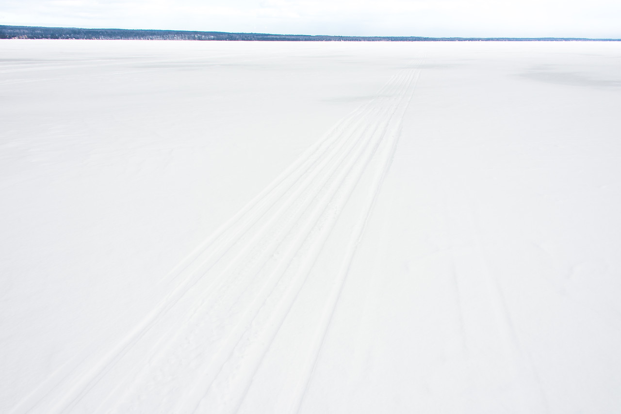 Not much to see on Black Lake, Michigan -  March 4, 2016
