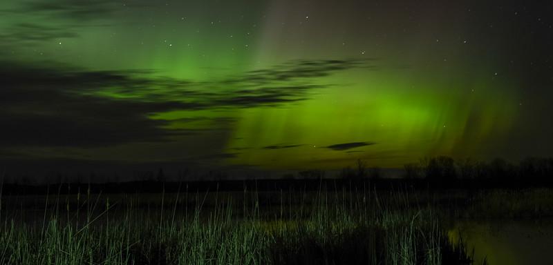 Northern Lights over Black Lake at 1:30 am, May 8, 2016