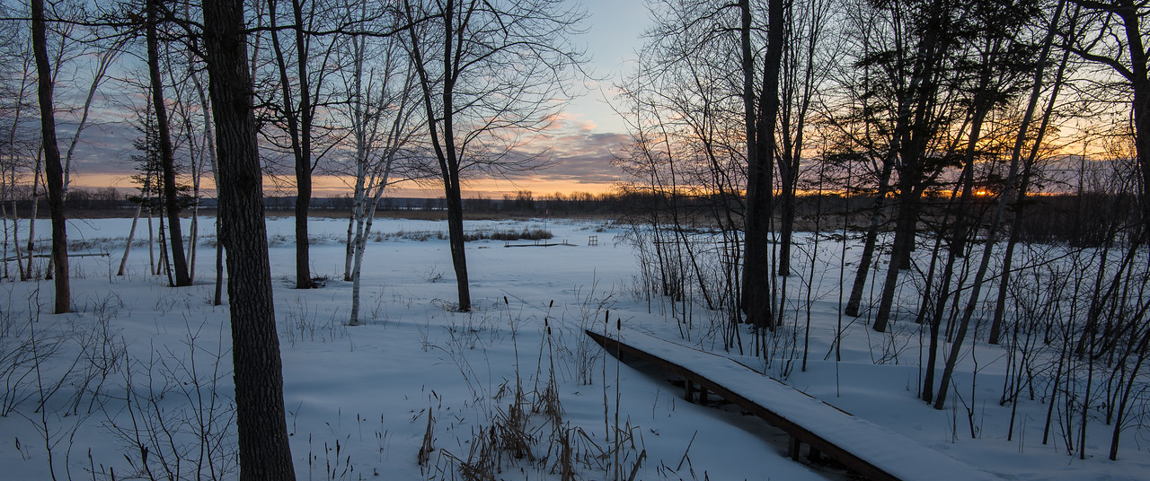 Early morning view from my deck on Black Lake, Michigan - March 4, 2016