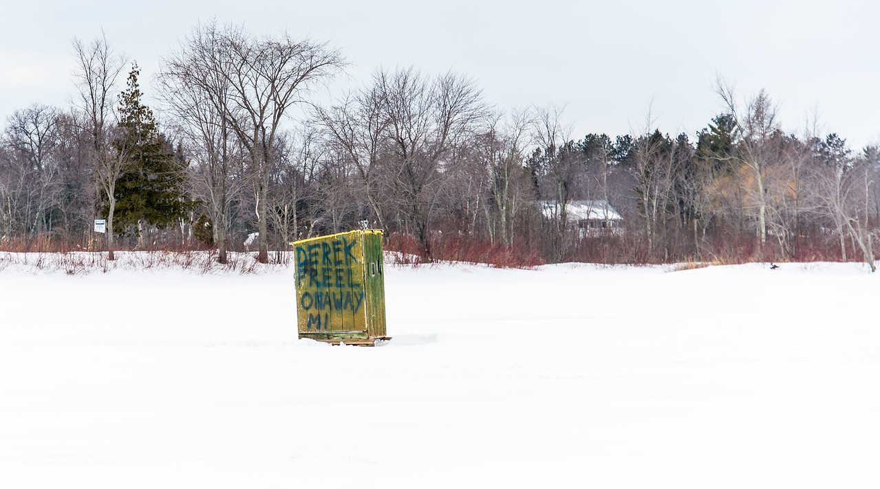 Ice Shanty on Black Lake, Michigan -  March 4, 2016