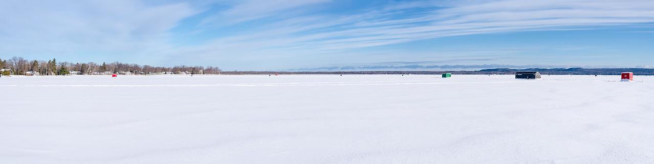 Panoramic of northwestern part of Black Lake, Michigan - February 2017