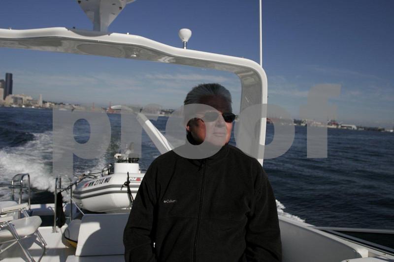 Skipper at wheel 0238