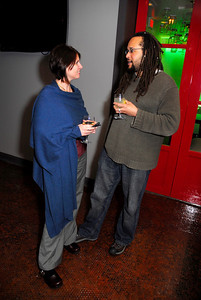 Brigette Basile,Abdul Kargbo,March 15,2011,Book Party For Nick Galifianakis at Lincoln.Kyle Samperton