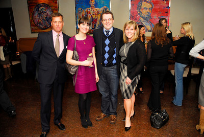 David Bass,Darcy Keller,Adam Sharp,Kelly McCormick,March 15,2011,Book Party for Nick Galifianakis,Kyle Samperton