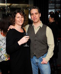 Carolyn Hax,Nick Galifianakas,March 15,2011,Book Party For Nick Galifianakis at Lincoln.Kyle Samperton