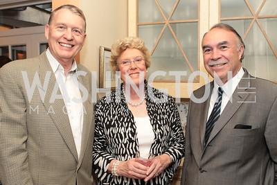 Aubrey Sarvis, Ellen Charles, David Dunn. Photo by Alfredo Flores Book party for Carol Joynt Innocent Spouse A Memoir hosted by Ellen Charles May 19, 2011