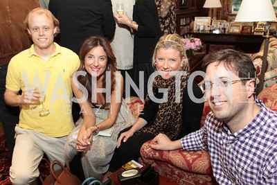 Jon Moss, Katherine Kallinis, Sophie LaMontagne, Steve LaMontagne. Photo by Alfredo Flores Book party for Carol Joynt Innocent Spouse A Memoir hosted by Ellen Charles May 19, 2011