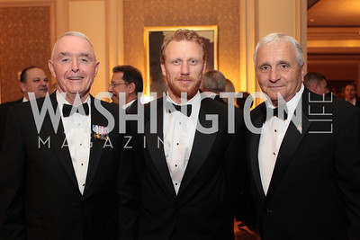 Barry McCaffrey, Kevin McKidd, Anthony Principi. Photo by Alfredo Flores. PenFed Foundation's seventh annual 7th Annual Night of Heroes Gala. Ritz-Carlton. May 19, 2011