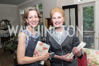 Faye Cohen, Miriam Fisher. Photo by Alfredo Flores Book party for Carol Joynt Innocent Spouse A Memoir hosted by Ellen Charles May 19, 2011