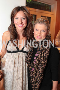 DC Cupcake's Katherine Kallinis and Sophie LaMontagne. Photo by Alfredo Flores Book party for Carol Joynt Innocent Spouse A Memoir hosted by Ellen Charles May 19, 2011