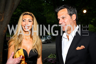 Rana and Richard Florida. Photo by Tony Powell. Bradley's Welcome Dinner for WHCD. Bradley residence. April 29, 2011