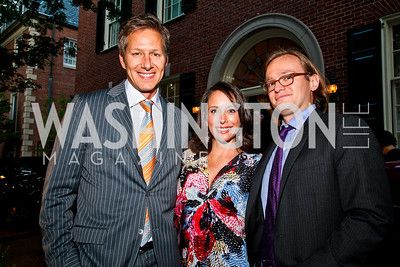 Jay Lauf, Alicia Hathaway, Brooks Aukamp. Photo by Tony Powell. Bradley's Welcome Dinner for WHCD. Bradley residence. April 29, 2011