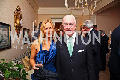 Actress Maria Bello, David Bradley. Photo by Tony Powell. Bradley's Welcome Dinner for WHCD. Bradley residence. April 29, 2011