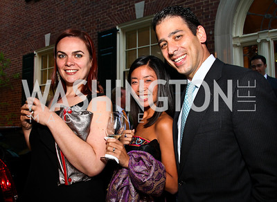 Breda O'Reilly, Jessica Ni, Felix DiFilippo. Photo by Tony Powell. Bradley's Welcome Dinner for WHCD. Bradley residence. April 29, 2011