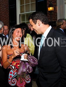 Jessica Ni, Felix DiFilippo. Photo by Tony Powell. Bradley's Welcome Dinner for WHCD. Bradley residence. April 29, 2011