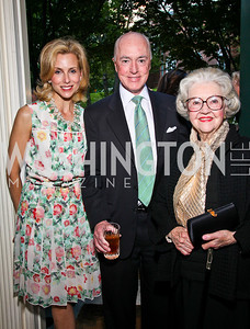 Katherine, David, and Mary Ann Bradley. Photo by Tony Powell. Bradley's Welcome Dinner for WHCD. Bradley residence. April 29, 2011
