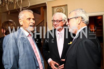 Ben Goddard, John Fox Sullivan, Edward Reilly. Photo by Tony Powell. Bradley's Welcome Dinner for WHCD. Bradley residence. April 29, 2011
