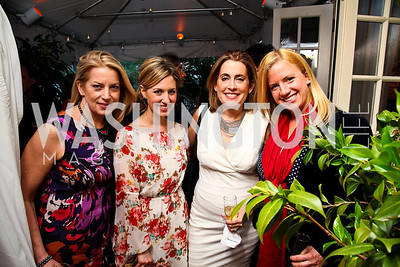 Edie Emery, Marissa Mitrovich, Jamie Shor, Christina Wilkie. Photo by Tony Powell. Bradley's Welcome Dinner for WHCD. Bradley residence. April 29, 2011
