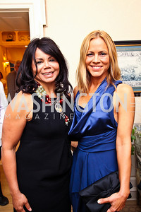 Marcia Dyson, Actress Maria Bello. Photo by Tony Powell. Bradley's Welcome Dinner for WHCD. Bradley residence. April 29, 2011