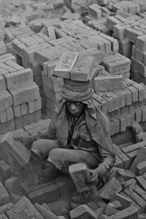 Brick Kilns in Kathmandu Valley (Black & White)