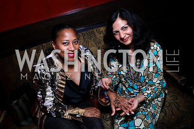 Montina Anderson, Savita Jain. Photo by Tony Powell. Buddha Bar 1-Year Anniversary. May 12, 2011