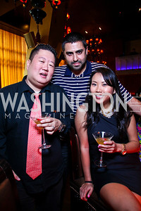 Christian Oh, Pouya Yousefi, Jean Yeung. Photo by Tony Powell. Buddha Bar 1-Year Anniversary. May 12, 2011