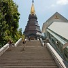 One of twin pagodas in Doi Inthanon National Park, Chiang Mai Thailand