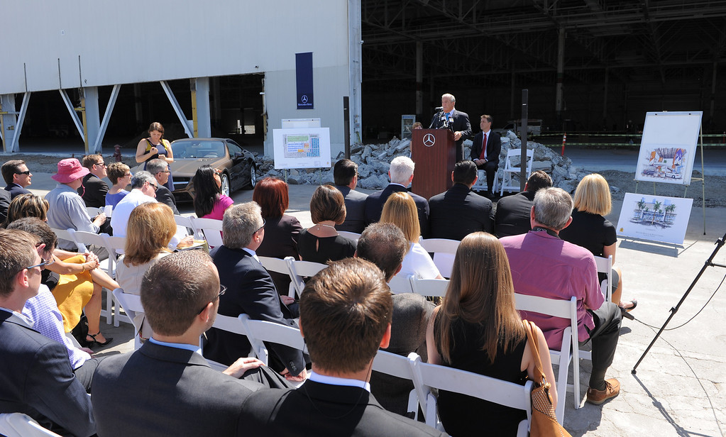 . Press conference and tour of the new Mercedes-Benz facility in Long Beach. The million sq. ft.  building is a former Boeing shop along Lakewood Blvd.   (June 4, 2014 Photo by Brad Graverson/The Press Telegram)
